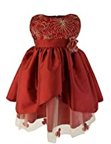 Faye Gold Cord & Maroon Ocassion Dress 3-4 Years