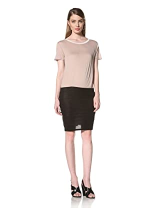 Loomstate 321 Knits Women's Aiko Dress Scoop Neck Dress (Grey/Black)
