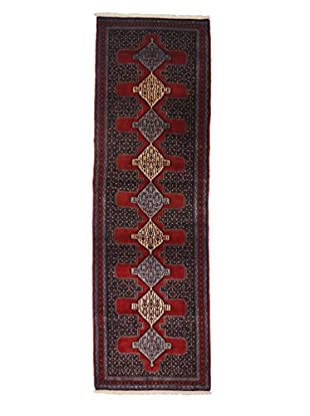 Darya Rugs Persian One-of-a-Kind Rug, Red, 3' x 9' 8