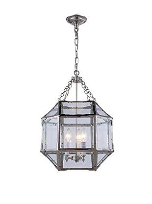 Urban Lights Gordon Small 3-Light Pendant Lamp, Polished Nickle