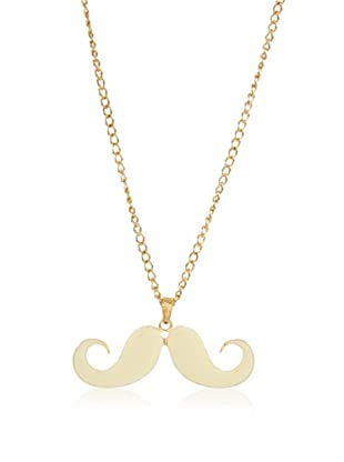 Poète Collar Mustache Liso (Dorado)