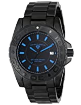 Swiss Legend Men's 9100-BB-11-BLA Grande Sport Black Dial Black Ion-Plated Stainless Steel Watch