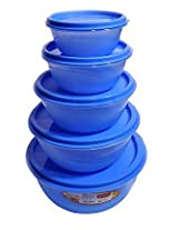 Princeware 5 Pcs Storage Container Blue