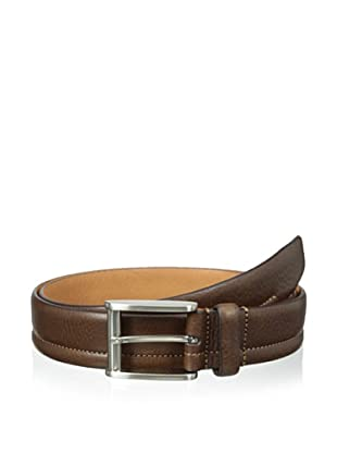 Trafalgar Men's Stitch Detailed Belt (Brown)