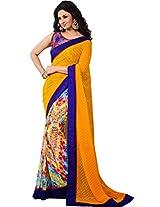 Sapphire Fashions Women's Yellow Net Saree