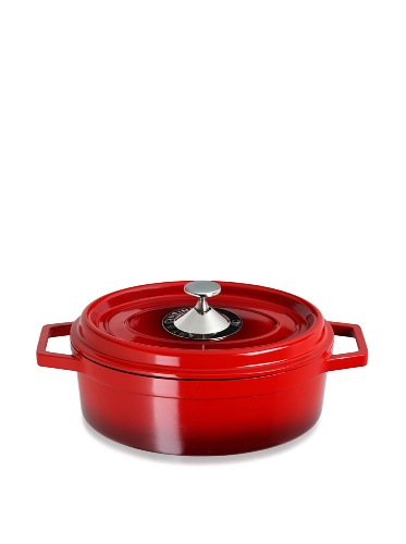 Art & Cuisine Cocotte Series Cast Aluminum Oval Roaster Pan (Red)