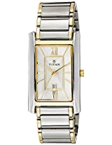 Titan Regalia Analog White Dial Men's Watch - 9280BM01