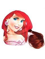 Ariel Princess Girls Baseball Cap Hat with Ponytail [2011]