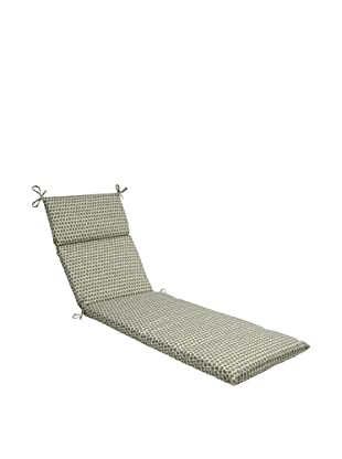 Pillow Perfect Outdoor Seeing Spots Chaise Lounge Cushion, Brown