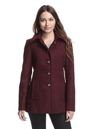 Kensie Women's Coat with Detachable Hood (Wine)