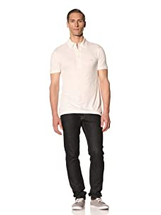 Emporio Armani Men's Five-Button Polo (Off white)
