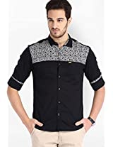 Printed Black Casual Shirt