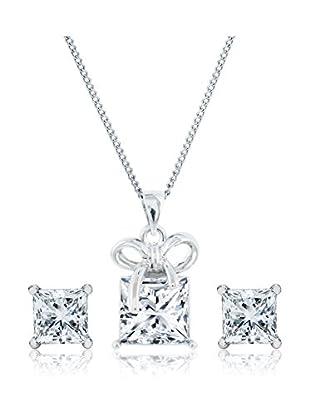 Diamond Style Set Kette, Anhänger und Ohrringe Princess Studs