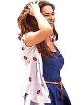 Pramukh Enterprise Women's Shirt (PR-JMS-01_Free Size_White)
