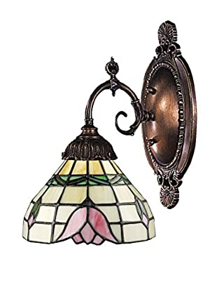 Artistic Lighting Mix-N-Match Tiffany LED Wall Sconce, Pink/Bronze