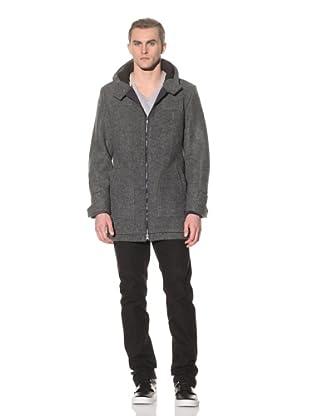 Number:Lab Men's Wool Cadet Coat (Charcoal)