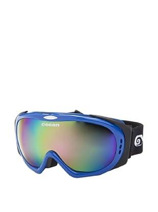 Ocean Máscara Ski Mont Black (Azul Brillante / Multicolor)