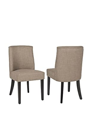 Safavieh Set of 2 Judy Side Chairs, Olive