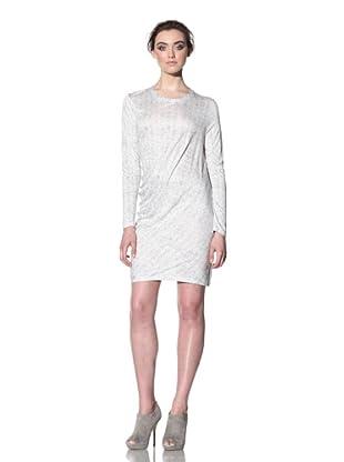 THAKOON CARBON COPY Women's Short Draped Front Dress (Grey/White)