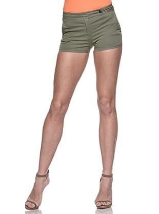 Crema Short Básico Stretch (Verde Militar)