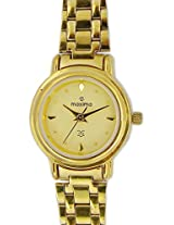 Maxima Formal Gold Analog Off-White Dial Women's Watch - 01130CMLY