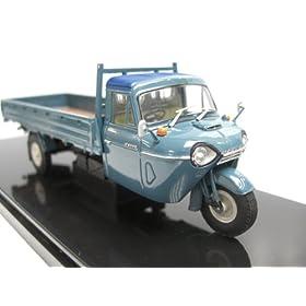 【クリックでお店のこの商品のページへ】EBBRO 1/43 マツダ T2000 3輪 トラック 1962 ブルー