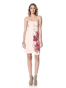 Paul & Joe Women's Vibrato Strapless Floral Print Dress (Bordeaux)