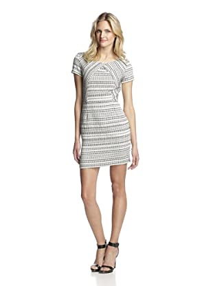 Hutch Women's Short Sleeve Dress (Black/White Pick Stitch)