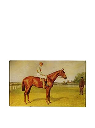 Twigs and Moss Jockey with Gentleman Glass Tray