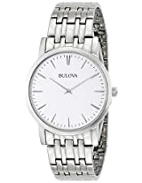 Bulova Classic Analog Silver Dial Men's Watch - 96A115