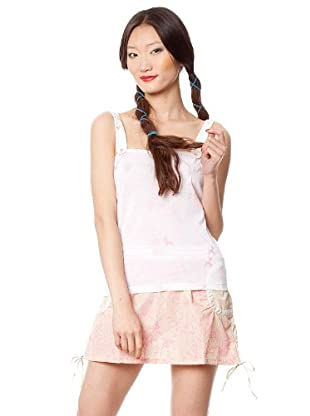 Custo Camiseta (Blanco / Rosa)