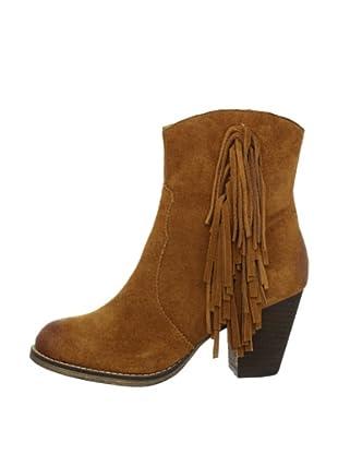 Buffalo London 412-0890 COW SUEDE 138833 - Botines fashion de cuero para mujer (Marrón)