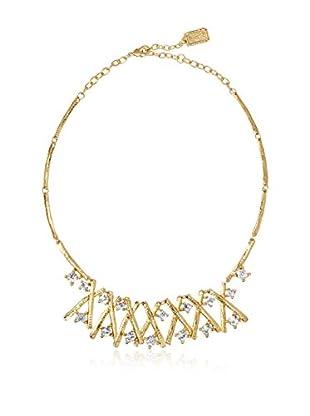 Karine Sultan Jewelry Criss Cross Gold Oxiedized Necklace