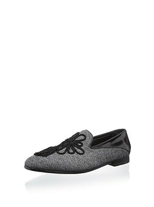 Giorgio Armani Men's Tasseled Wool Loafer (Fancy Grey)