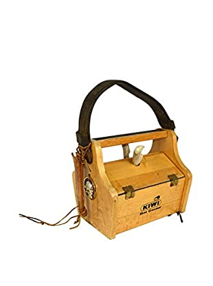 Uptown Down Previously Owned Hinged Wood Shoeshine Caddy
