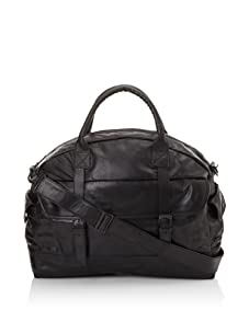 i.am Men's Leather Weekend Bag (Black)