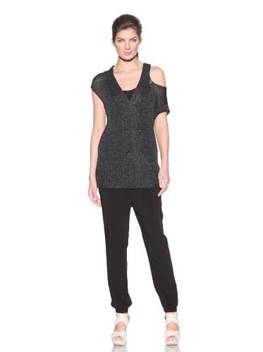VPL Women's Slip Twist Knit Sweater (Black)