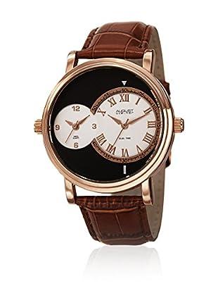 August Steiner Uhr mit schweizer Quarzuhrwerk  braun 43 mm