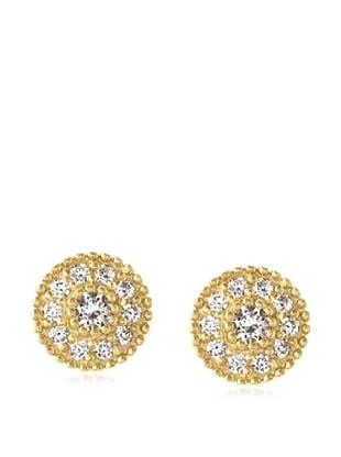 Belargo Golden Round Stud Earrings