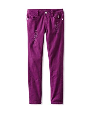 Baby Phat Girl's 7-16 Rips and Sequins Jeans (Purple)