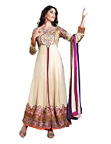 Fabdeal Women Georgette Embroidered Salwar Kameez