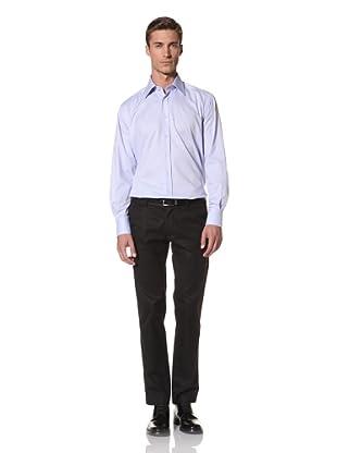 Valentino Men's Dress Shirt (Light Blue/Light Blue Stripe)
