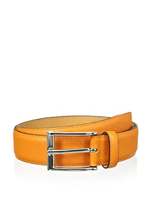 Leone Braconi Men's Britain Belt (Orange)