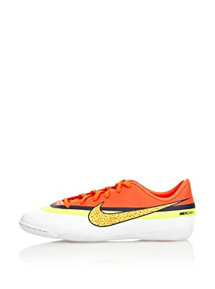 Nike Botas Fútbol Jr Mercurial Victory Iv Cr Ic (Blanco / Naranja / Amarillo)