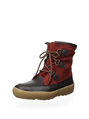 Cougar Women's Cayuga Lace-Up Insulated Snow Boot (Dark Brown/Burnt Henna)