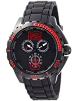 Marc Ecko Men's E14537G1 The Spirit Multi-Function Black Dial Watch
