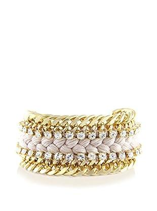 Ettika Beige & 18K Gold-Plated Dazzler Bracelet