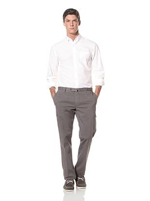 Incotex Men's Flat Front Cargo Pant (Charcoal Grey)