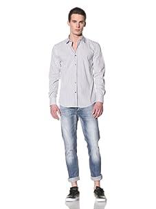 Antony Morato Men's Long Sleeve Woven Shirt (Grey/White)
