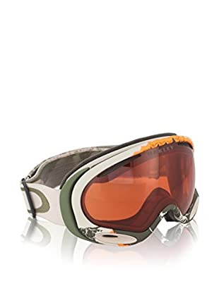 Oakley Máscara de Esquí A-Frame 2.0 Mod. 7044 Clip Kazu Blanco Roto / Verde